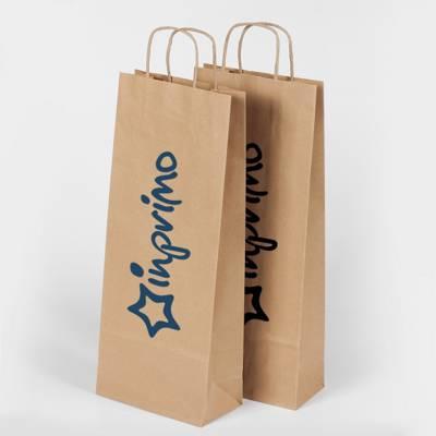 Papírová taška GIFT PACK WINE s vlastním potiskem