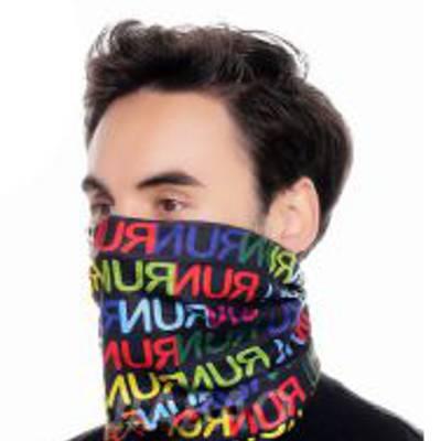 Multifunkční šátek s barevným potiskem