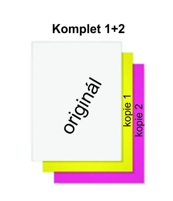 Propisovací blok 1 originál + 2 kopie