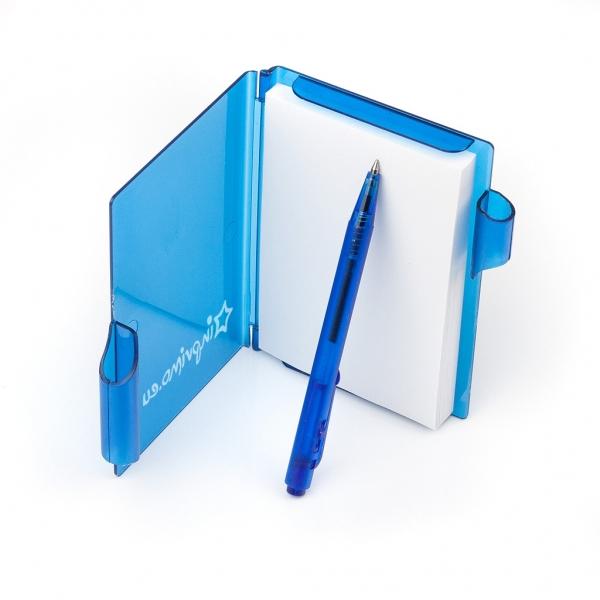 Notes - plastový s propiskou