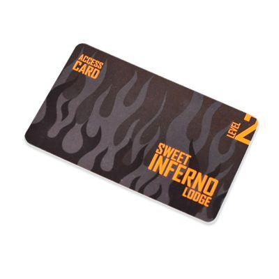Plastové kreditní karty s parciálním lakem