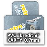 Standardní plastové kreditní karty