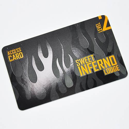 PVC karty - parciální UV lak