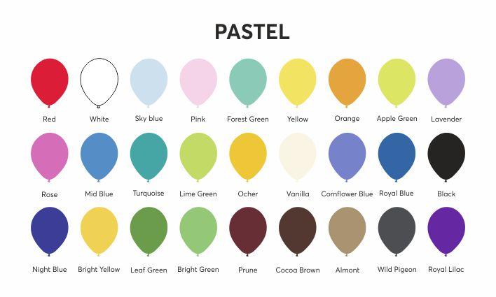 Barvy balonků - pastelové