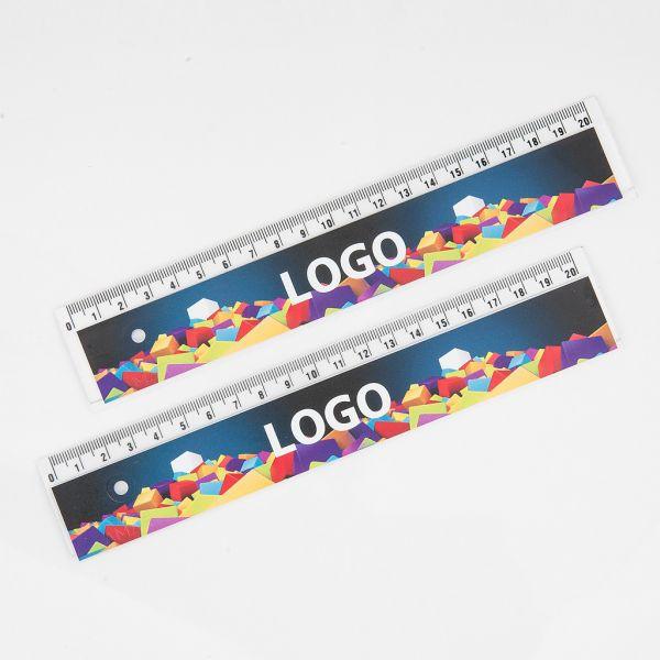 Pravítko 20cm transparentní s UV potiskem