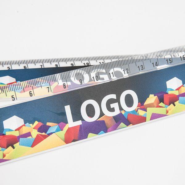 Pravítko 20cm transparentní s UV tiskem