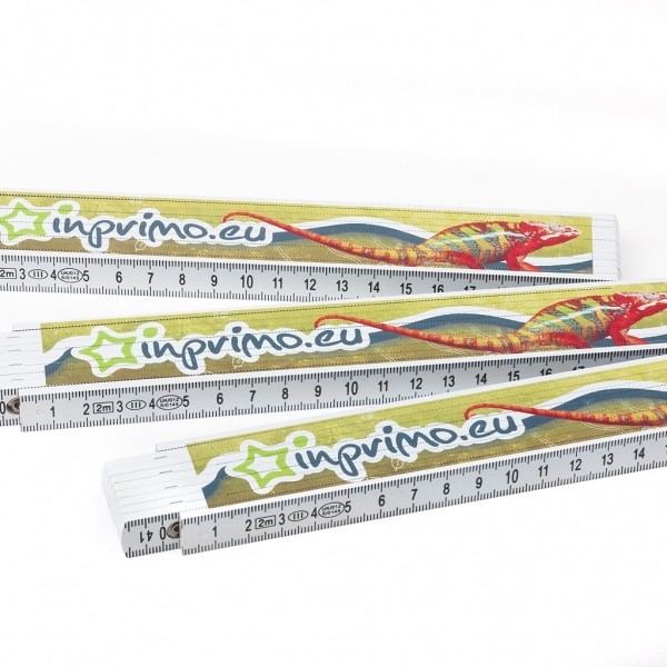 Skládací metr 2m s plnobarevným UV tiskem