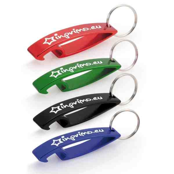 Hliníková klíčenka - přívěšek - otvírák s potiskem