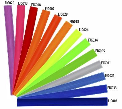Dostupné barvy reflexních fólií pro výrobu samolepek