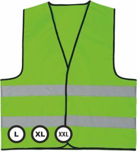 Reflexní vesta s potiskem - zelená