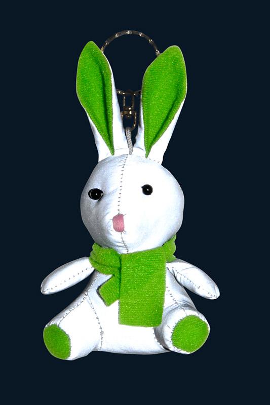 Reflexní maskot - KRÁLÍK zelený