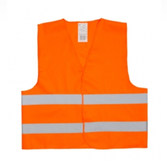 Reflexní vesta s potiskem - oranžová