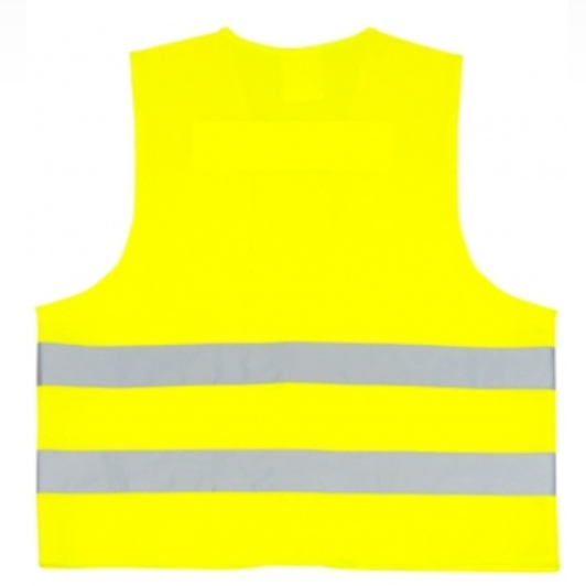 Reflexní vesta s potiskem - žlutá