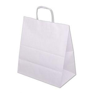 Papírová taška EKO - bílá s potiskem