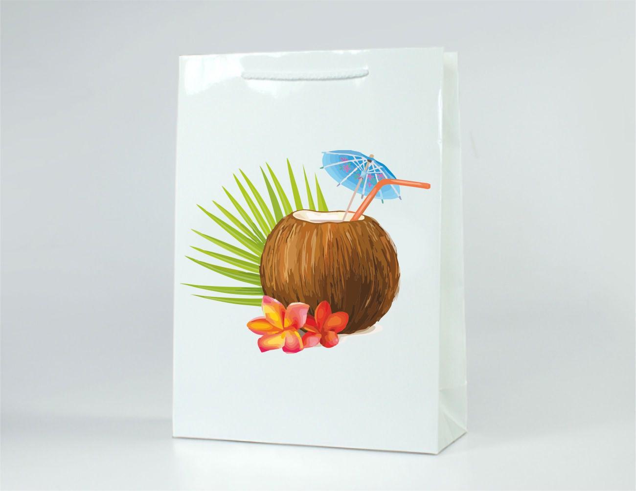 Papírová taška s laminací velikost L