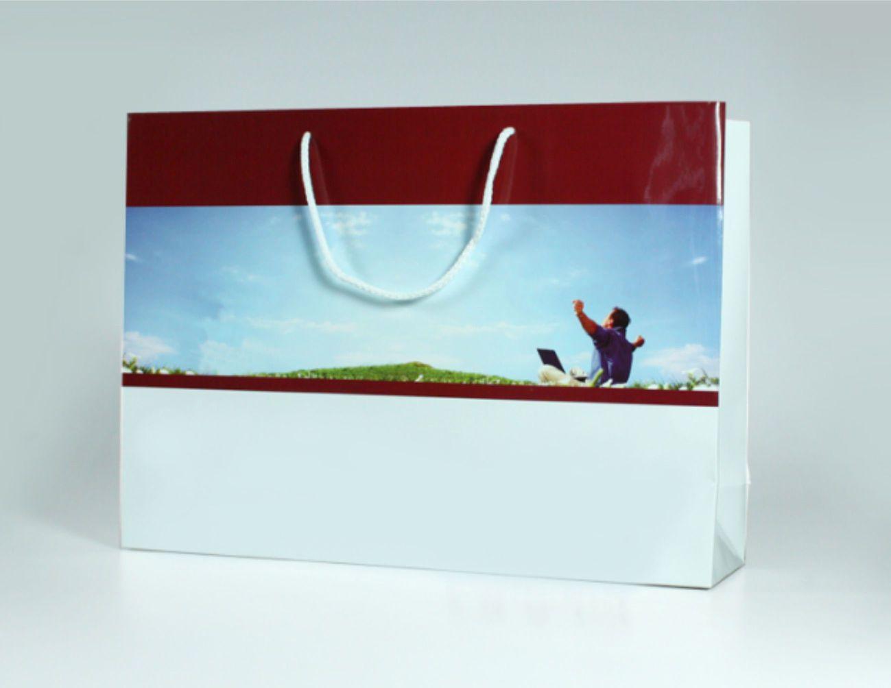 Papírová reklamní taška s laminací - kategorie XL