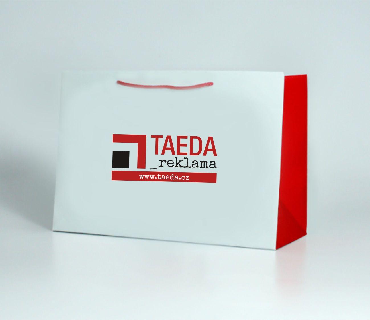 Papírová reklamní taška s laminací - kategorie XXL