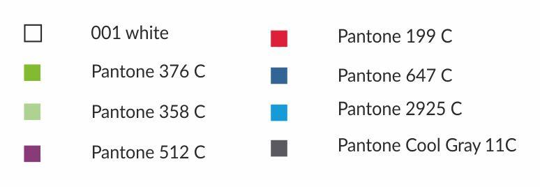 Dostupné barvy ručníku z mikrovlákna