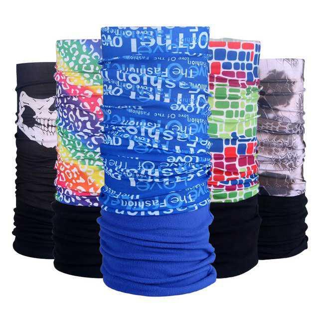 Multifunkční šátek SCARF WINTER s fleece nadstavbou a potiskem