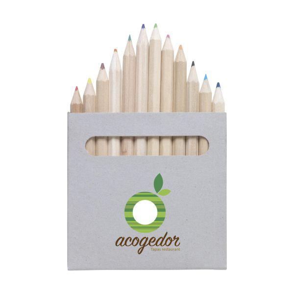 Přírodní barevné tužky COLOUR 12 s vlastním potiskem