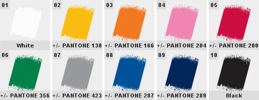 Šňurky na krk - barvy