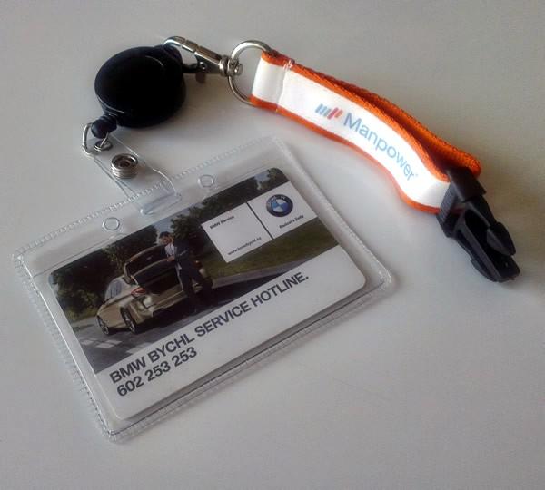Visačka na karty z měkčeného PVC